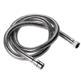 Chrome Large Bore Shower Hose Small Nut 1.5M - 50600257